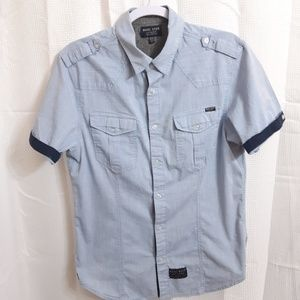 H Q Ecko Short Sleeve Button Up Shirt